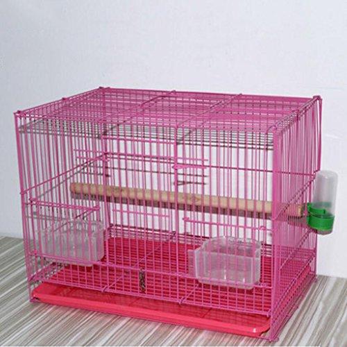 Liuyu · Maison de la Vie Cages d'élevage de Poulet Perroquet en Cage de Birdcage Metal Pigeon (Color : Pink, Size : Large 47 * 30 * 33cm)