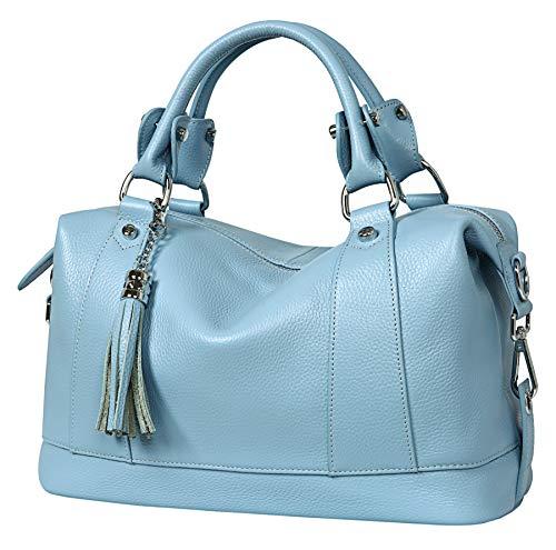 Heshe Leather Shoulder Bag Womens Tote Top Handle Handbags Cross Body Bags...