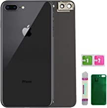 OEM Replacement Back Glass Cover Back Battery Door Installed Camera Frame Lens Replacement for iPhone 8 Plus (Space Grey or Black)
