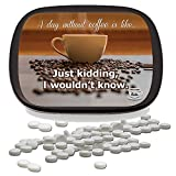 A Day Without Coffee Mints – Unique Coffee Gifts for Coffee Lovers White Elephant Ideas Candy Gifts for Adults Peppermint Breath Mints Stocking Stuffers Funny Friend Gift Coffee Clutch