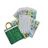 Don Clemente Autentica Loteria Mexican Bingo Set of 20 Tablets with a Free Mini Tote Bag Loteria Mexicana con 20 diferentes Tablas y UNA Bolsa juguetera de Nylon de Regalo