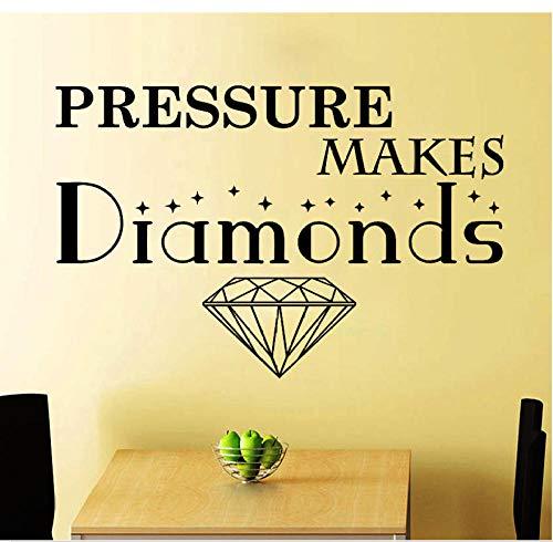 MUXIAND Muurstickers, Maak diamanten motieven Aangepaste naam PVC Home Decor muur Vinyl Kwekerij Kamer Interieur Lettering Art Room DIY Verjaardagscadeau Reizen Living88x58cm