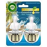 Air Wick Eléctrico - Recambios de ambientador automático eléctrico, esencia para casa con aroma a Oasis Turquesa - 2 unidades