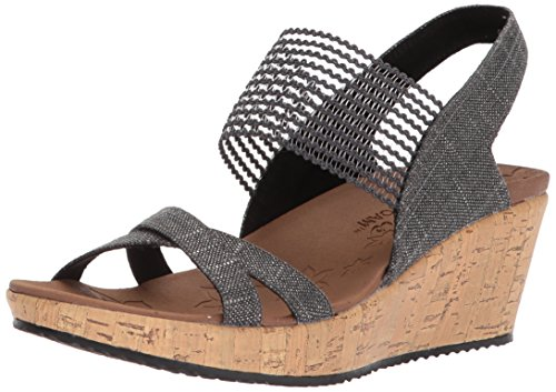 Skechers Damen Beverlee - High Tea Sandalen, Schwarz (Black), 39 EU