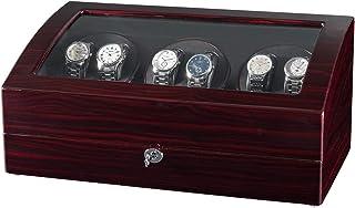 JQUEEN Seis bobinador automático de relojes con 7 espacios de almacenamiento adicionales, motores silenciosos Mabuchi