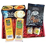 Specialty Gift Basket for Him- features 100% Wisconsin Cheese, Crackers, Pretzels, & Mustard. Best Birthday Gift to Send, Gourmet Gift Amazon Prime.