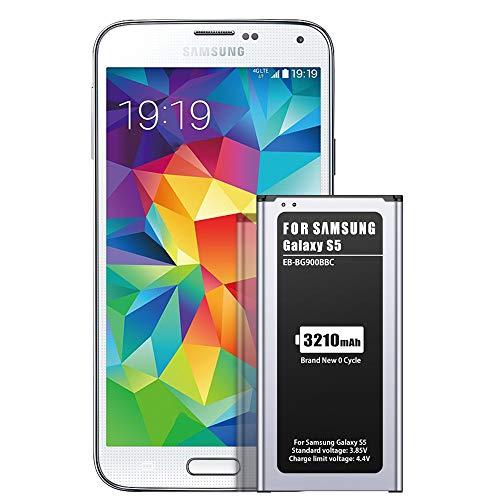 ZMNT Akku kompatibel mit Samsung Galaxy S5, 3210mAh Neu Ersatz Akku für Galaxy S5 [I9600, G900F, G900V (Verizon), G900T (T-Mobile), G900A (AT&T), G900P(Sprint)]