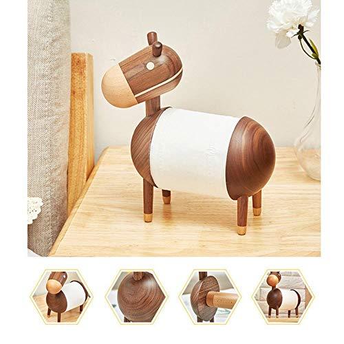 Apoo Wohnzimmer Küche Papierhandtuchhalter Little Donkey Home Cartoon Handwerk Badezimmer Rack Ornamente Toilettenpapierhalter Holz Dunkelbraun Ca