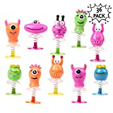 THE TWIDDLERS Juguetes Monstruos Saltarines - Paquete de 36 Juguetes de Resorte - Ideales Regalos de Fiesta Cumpleaños - Piñata - Premios o Detalles de Navidad