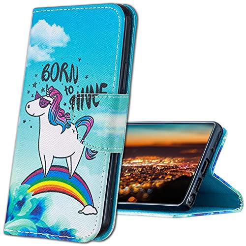 MRSTER Xiaomi Mi A1 Funda, Xiaomi Mi 5X Cover, Ultra Slim Carcasa Protección de PU Cuero Funda con Stand Función para Xiaomi Mi A1 / Xiaomi Mi 5X. HX Rainbow Unicorn
