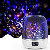 Product Image of the Star Projector Night Light Bluetooth Speaker 360 Degree Rotation Multicolor...