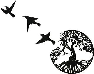 Art Mural en Métal, Art de l'arbre de Vie, Signe de Famille Arbre en Métal, Décoration Murale, Décor D'intérieur