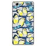 dakanna Funda para [ Wiko Pulp 4G ] de Silicona Flexible, Dibujo Diseño [ Pattern Mariposas Amarillas y Azules Watercolor ], Color [Fondo Transparente] Carcasa Case Cover de Gel TPU, Smartphone