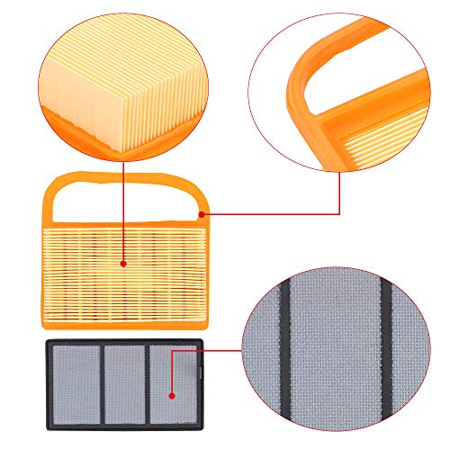 Panari (Pack of 5 Air Filter + Pre Cleaner for TS410 TS420 TS410Z TS420Z Concrete Cut Off Saw