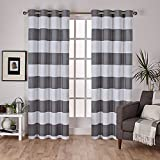 Exclusive Home Curtains Surfside Cotton Cabana Stripe Window Curtain Panel Pair