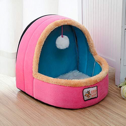 TIANPIN Cat nest, Huisdieren benodigdheden kunnen worden verwijderd en gewassen Pet Cat Puppy Warm Leuke Grot Nest- Voor Kleine Medium Huisdieren Bed Slaapzak Huisdieren benodigdheden