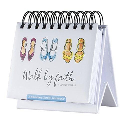 DaySpring Flip Calendar - Walk by Faith - 75618,White