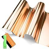 JDMBESTBOY Free Tool Kit Premium Bronze Copper Rose Gold Chrome Brushed Aluminium Car Vinyl Wrap Sticker Decal Sheet Bubble Free - 12'X60' (1FT X 5FT)