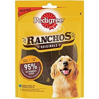 PEDIGREE Ranchos - Récompenses riches en Poulet pour Chien, 7 sachets de 70 g de friandises