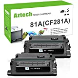 Aztech Compatible Toner Cartridge Replacement for HP 81A CF281A 81X CF281X Laserjet Enterprise MFP M605 M604 Toner M604N M604DN M605N M605DN M605X M630 M606 M630h M630dn M630z Printer (Black, 2-Pack)