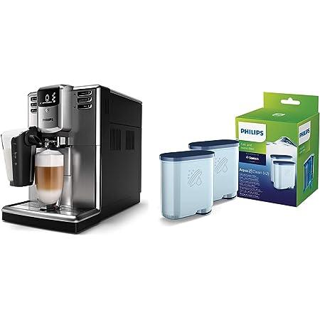 Philips EP5335/10 Machine à café Expresso Super automatique- Séries 5000 LatteGo Inox & Filtre à Eau et à calcaire CA6903/22 Lot de 2