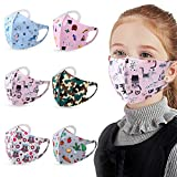 6 Pack Kids Face Shield Reusable and Washable for Cycling Camping Travel for Girls Boys Children