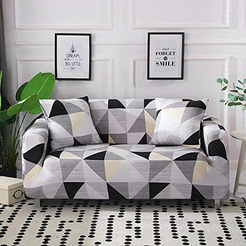 Funda de sofá geométrica elástica elástica Moderna Funda de sofá para Silla Fundas de sofá para Sala de Estar Protector de Muebles A16 2 plazas