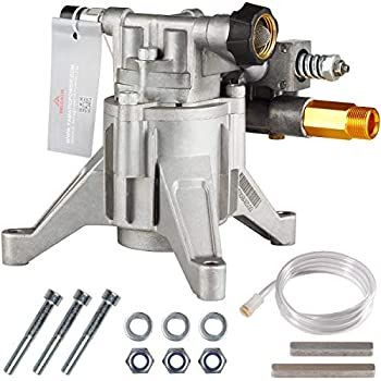 YAMATIC Max 3000 PSI Pressure Washer Pump 2.5 GPM Rear Outlet Vertical 7/8  Shaft OEM & Replacement Pump for Power Washer Fits  308653045 308653093 308653052 308653078 GCV190