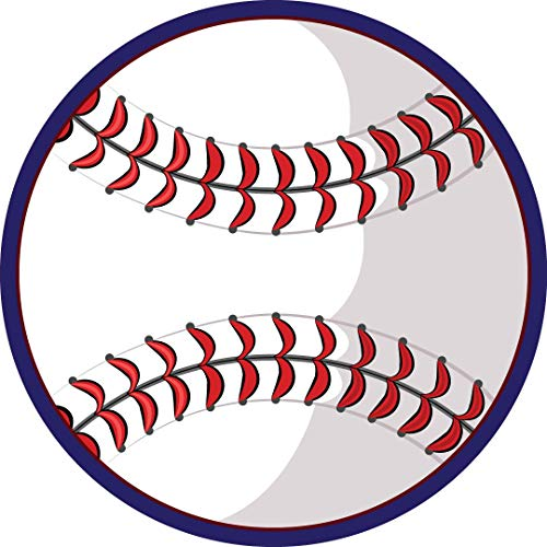Car Magnets and Decals Sports, Baseball, Locker Room Decoration, Magnet for Fridge, Stocking Stuffer for Boys, Athletes, Party Favor, 5 3/4 Inches