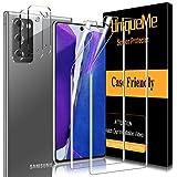 [2 Pack] UniqueMe TPU Protector de pantalla y [2 Pack] Protector de lente de cámara de vidrio templado para Samsung Galaxy Note 20 (6.7 pulgada) 4G / 5G