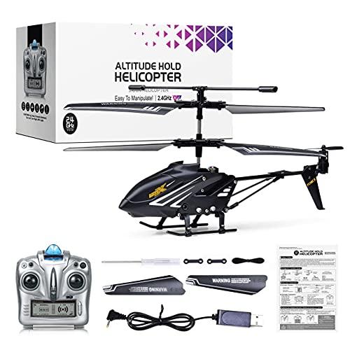 CYLYFFSFC Avión de Control Remoto inalámbrico de Altura Fija 2.4G para niños, Modelo de helicóptero de Cuatro vías de aleación eléctrica, despegue y Aterrizaje con un botón, Gire a la Izquierda, Gire