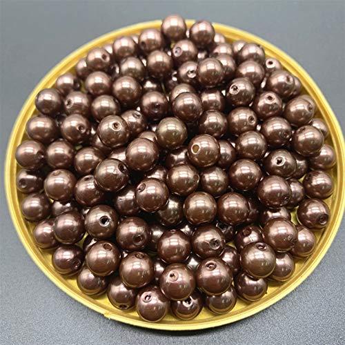 Venta al por Mayor 8 mm 50 unids Perlas de imitación Perlas Redondas Bricolaje Pendientes Pendientes Encantos Collar Perlas para la fabricación de Joyas (Color : 01)