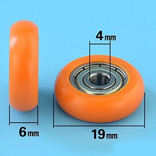 6 pi/èces Roulement 25 mm Poulie Wcic Cuivre excentrique de roue de douche en verre Porte Roues Rouleaux coureurs pour salle de bain Porte de douche sauna Vapeur CABINS