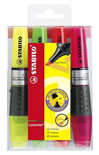Textmarker - STABILO LUMINATOR - 4er Pack - gelb, grün, orange, pink