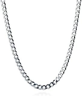 "Designer Inspired 2mm Silver Curb Chain Necklace Sterling 925 16"" 18"" 20"" 22"" 24"" 26"" 28"" 30"""