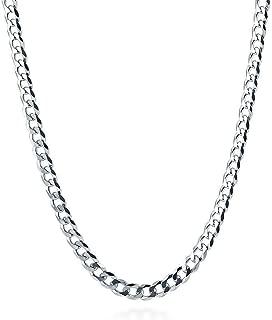 Cadena salomónica de plata de ley de 2 mm, longitud de 35 cm, 40 cm, 45 cm, 50 cm, 55 cm, 60 cm, 76 cm.