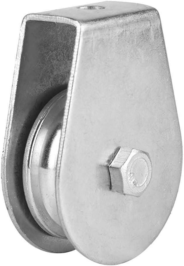 0.3T Peso de elevaci/ón Rodillo de polea Polea simple Rodillo de polea giratoria de bajo desgaste Rueda de elevaci/ón duradera para cable 02 Bloque de polea