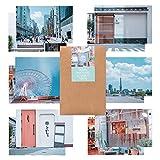 モノライク 東京 とうきょう葉書 はがき ポストカード Tokyo postcard set - 12セット感性的なデザインはがきデイリーはがき、雰囲気のあるすっきりしたはがき長方形葉書,デザイン文具