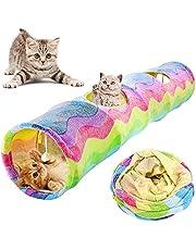 VOOPH 猫 トンネル ハウス キャットトンネル ペットとんねる おもちゃ 折りたたみ式 収納便利 安全素材 ボールに付き ストレス解消 遊び道具 キャット玩具 2穴 プレイトンネル 猫玩具 猫おもちゃ 中大型猫使え ストレス発散 運動不足 対策 ペット玩具 ペット用品