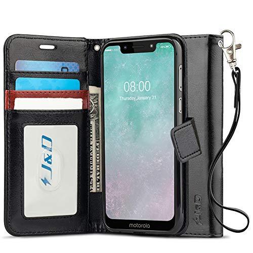 J&D Compatible para Moto G7 Play Funda, [Protección de Cartera] [Soporte Plegable] Funda Pesada Resistentes Billetera para Motorola Moto G7 Play Funda Cuero - No para Moto G7/G7 Plus/G7 Power/G7 Supra