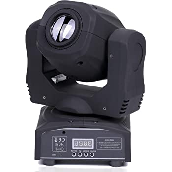 U`King LED Moving Head Light Spot 4 Color Gobos Light 100W DMX with Show KTV Disco DJ Party for Stage Lighting (Black)