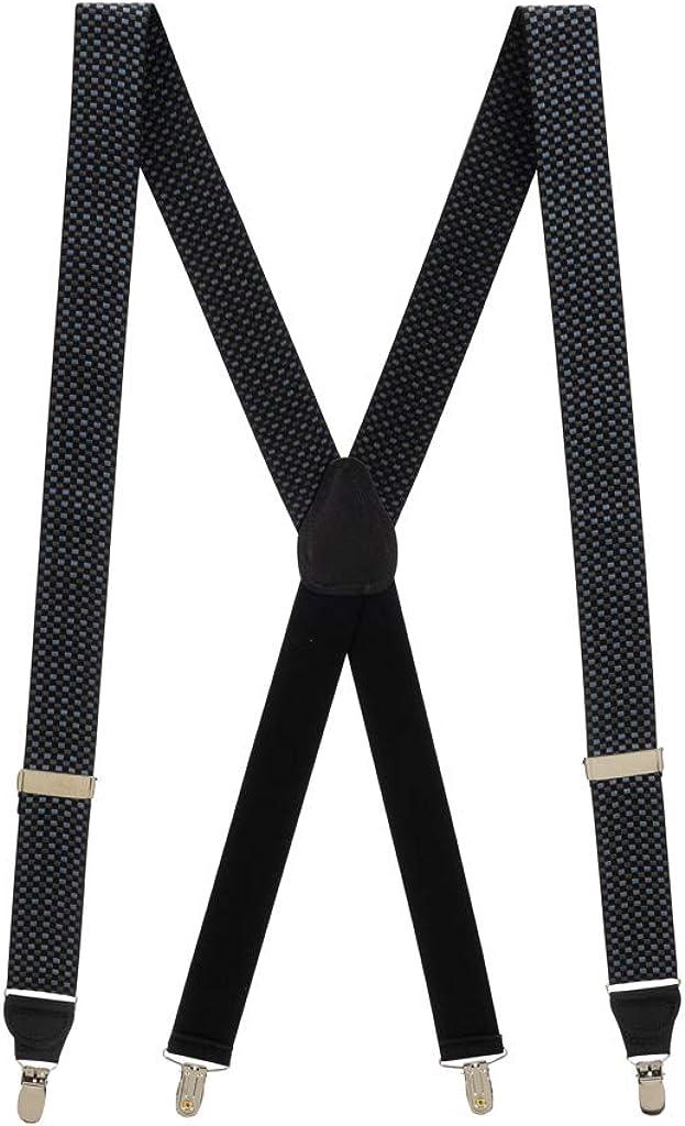 SuspenderStore Men's Fairfield Grosgrain CLIP Suspenders