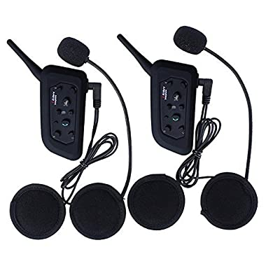 Amazingbuy - 2 Sets Vnetphone V6 BT Intercom Bluetooth Interphone 1200M Range 6 Riders Motorcycle Helmet - Motorcycle Snowmobile Multi Interphone Headsets 6 Riders. Great for Skiing and Riding)