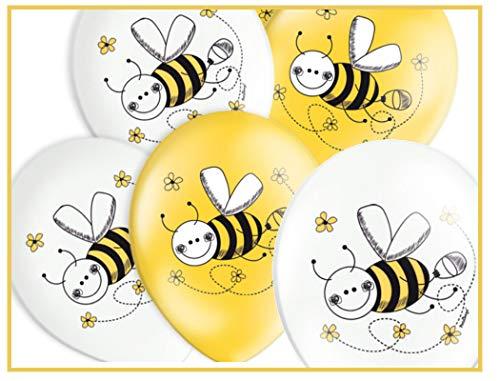 Libetui 10 Luftballons Pastel Bienchen Geburtstag Deko Kindergeburtstag Party 30cm Motiv Biene