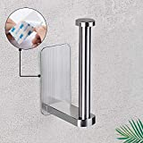 Nolimas Self Adhesive Toilet Paper Holder SUS 304 Stainless Steel No Drilling Bathroom Kitchen Tissue Paper Roll Towel Holder Rustproof, Brushed Nickel Finish,1Pack