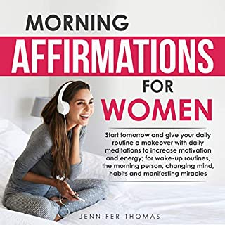 Morning Affirmations for Women audiobook cover art