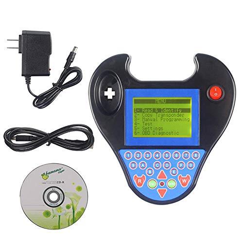 Easy-topbuy Programmatore Chiave - Dispositivo transponder Clone - Trova Pin, Programmatore Intelligente Zed-Bull per più Lingue con Mini Tipo Senza Bisogno di Token