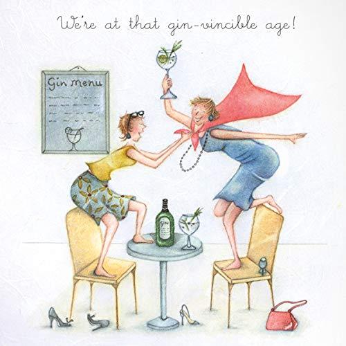 Berni Parker Weinglas Gin Geburtstagskarte–Wir Sind Bei, Dass Gin-vincible Alter