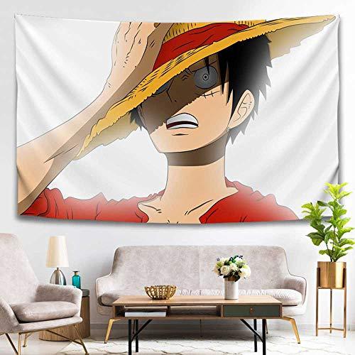 PANQQ Digitale print grote Aap D. Luffy strohoed kind wandtapijten muur gordijn achtergrond doek strand handdoek