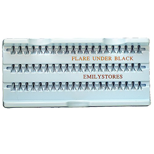 EMILYSTORES 12 Packs Eyelashes Natural Individual Plant Flare Under Lower 8mm Black Eye Extensions Lashes by EMILYSTORES